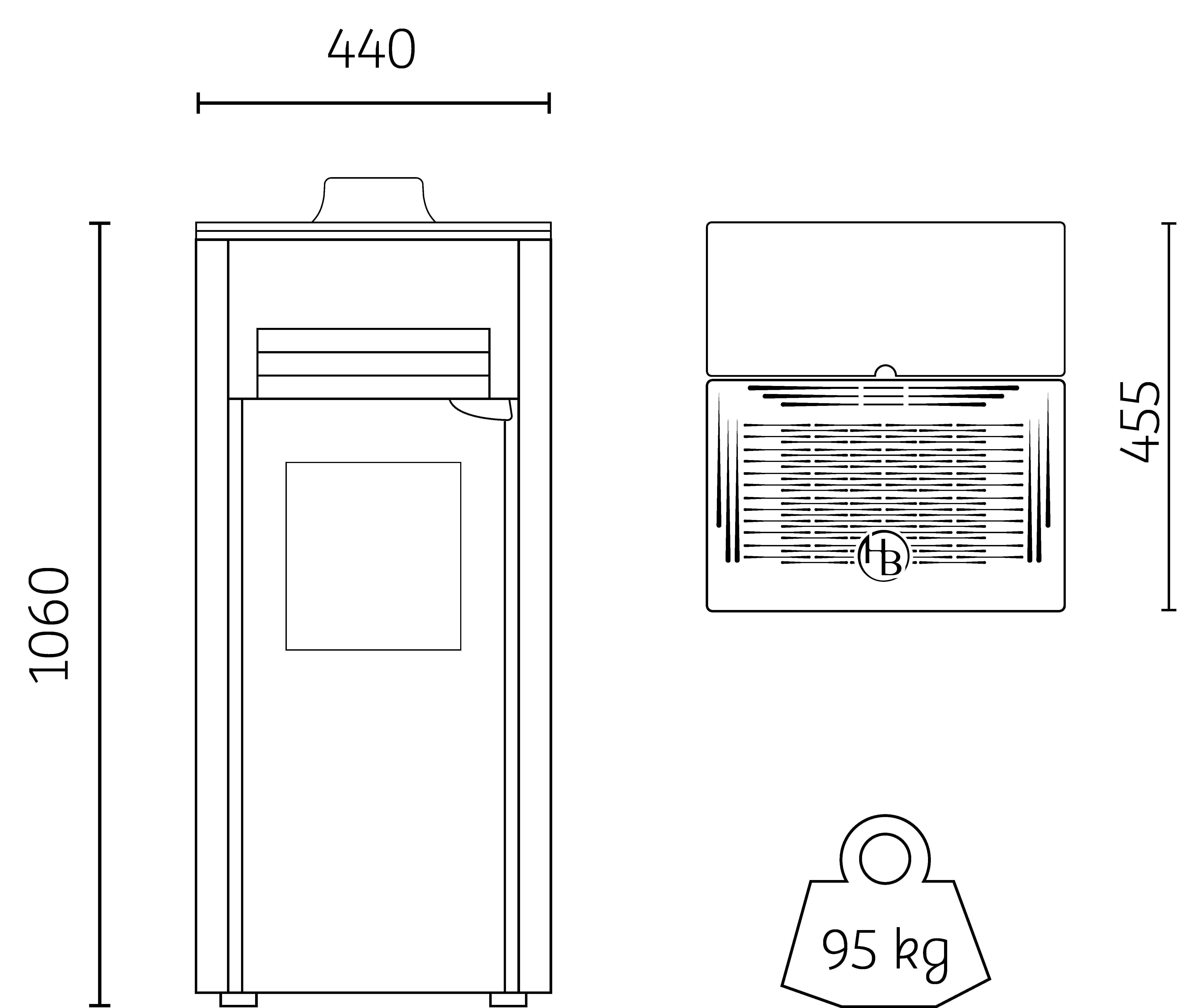 poêle à granulés petite puissance HOBEN H5