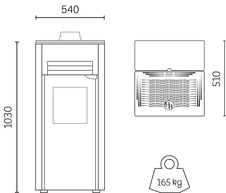poêle à pellets design français HOBEN