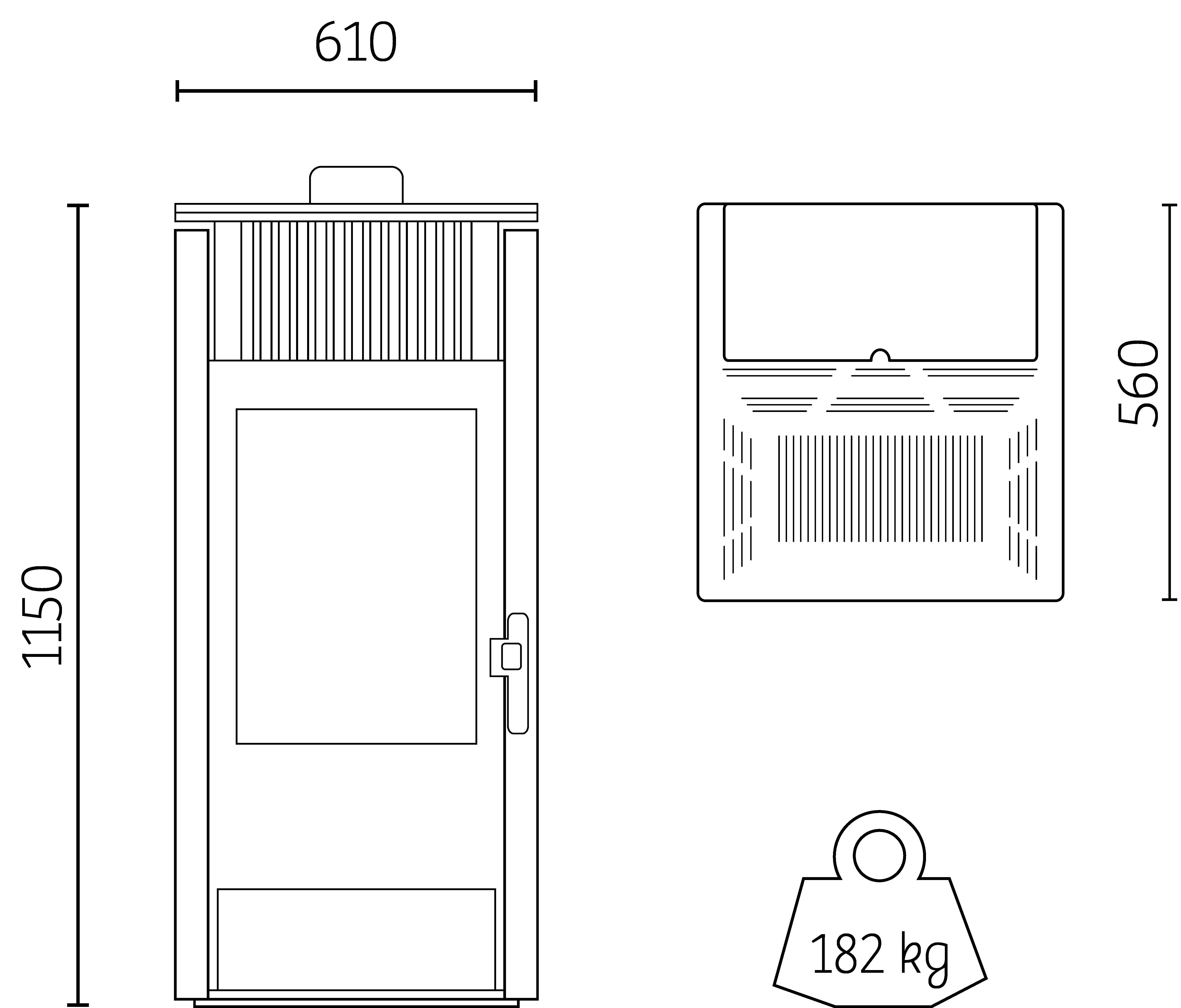 poêle à granulés canalisable HOBEN H11c