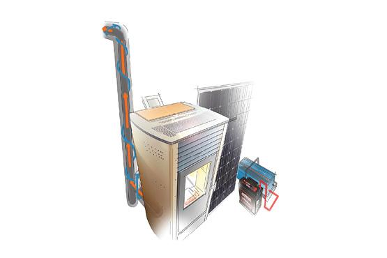 Avec l'AEC, Autonomie Electrique Compatible, le poêle consomme jusqu'à 3 fois moins d'électricité que la moyenne, tolère les variations électriques du réseau et est raccordable à d'autres sources d'alimentation électrique autonomes, via un convertisseur (panneau photovoltaïque, groupe électrogène…).