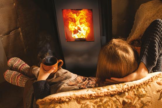 es poêles à pellets HOBEN apportent une chaleur douce, une belle flamme esthétique